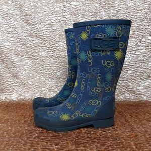 Ugg Rain Boots with Multi logo Print Size